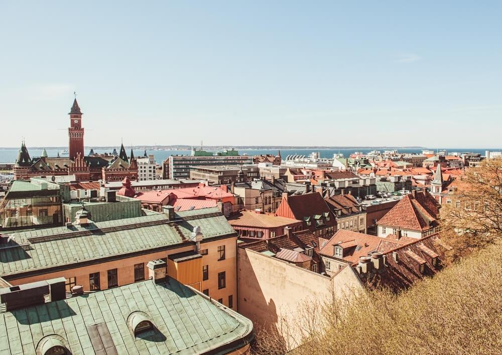 Ausblick über Helsingborg