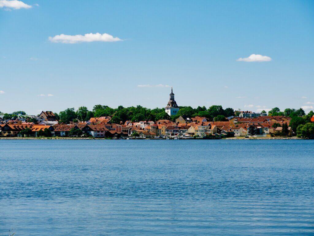 Blick auf Västervik