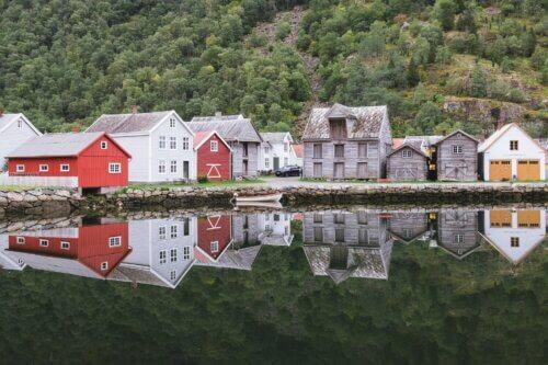 Sognefjord: Orte