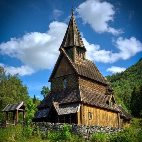 Sognefjord: Stabkirche Urnes