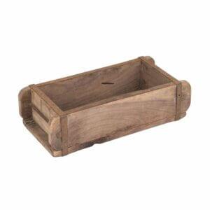 Speedtsberg: Kiste in Ziegelform aus Recyclingholz