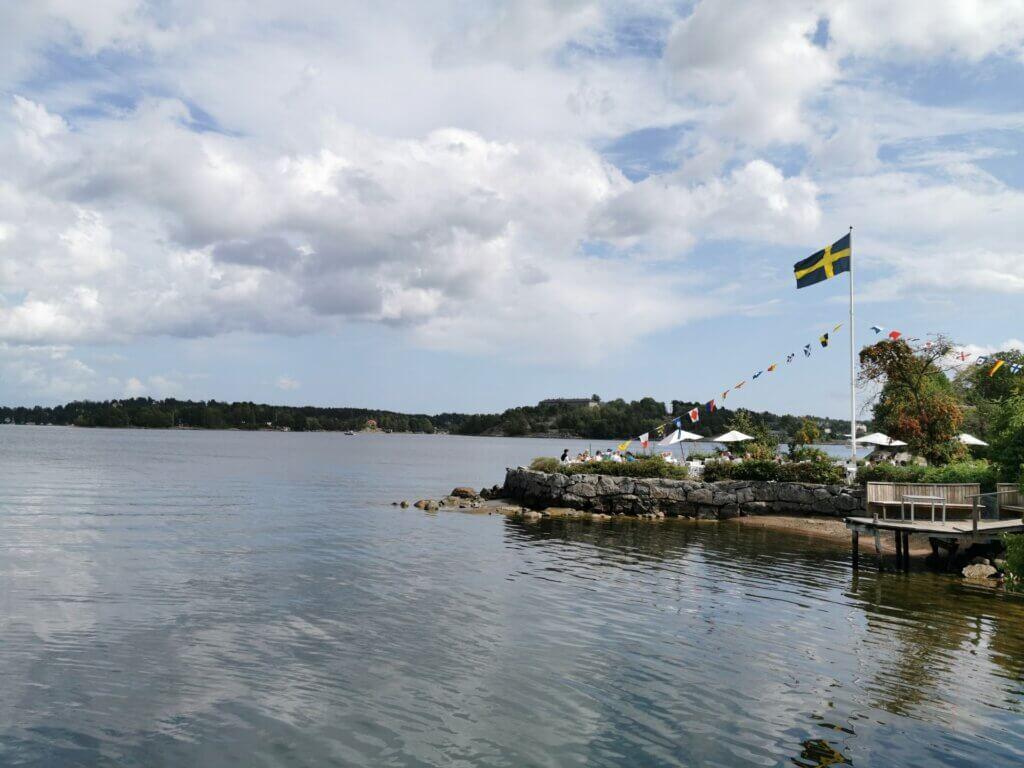 Uppland: Café auf Vaxholm